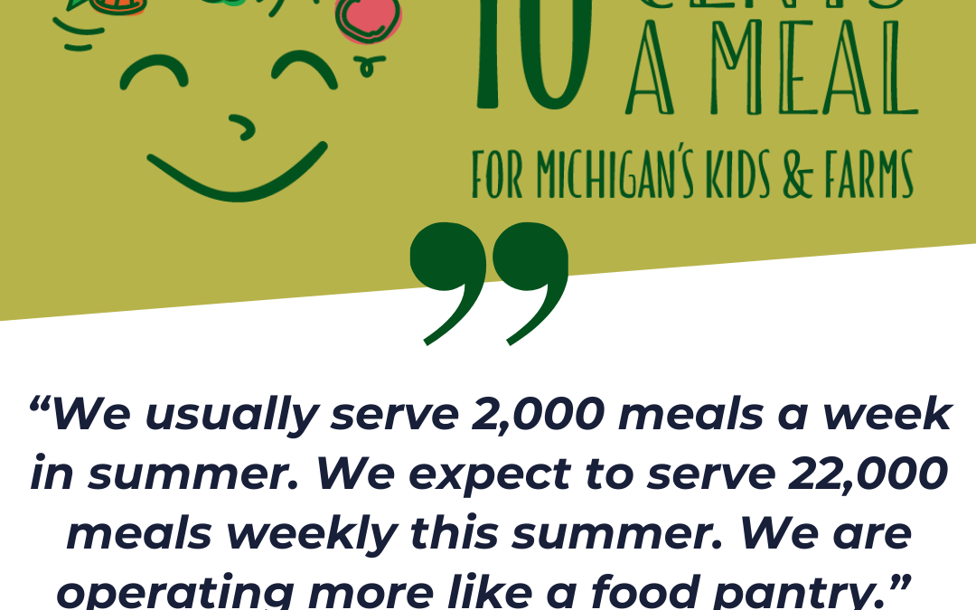 Let's Fund 10 Cents a Meal to Keep Kids Fed and Farms in Business Thru the Pandemic