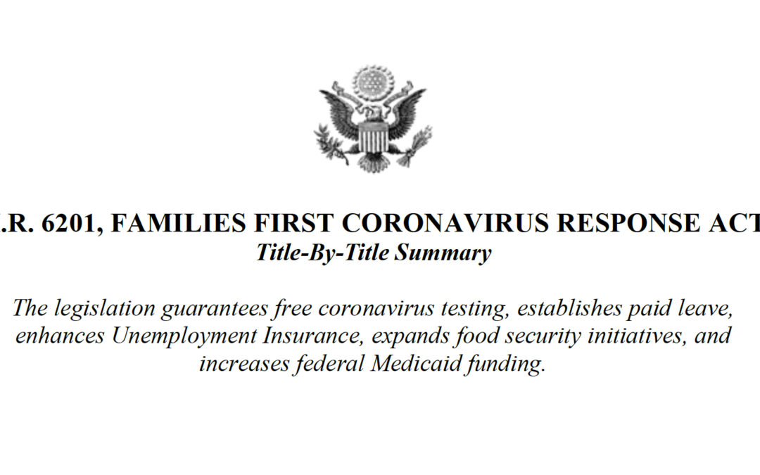 Families First Coronavirus Response Act: Title-By-Title Summary