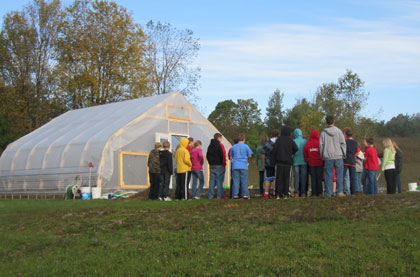 FoodCorps Diaries: Students' first hoop house harvest