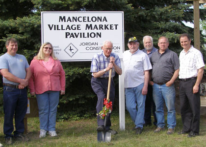 Mike Hayes, who's running for the Great Lakes Energy co-op board of directors, was a leader in the creation of Mancelona's new farmers market pavilion.