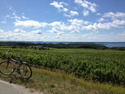 A Summer of Smart Commuting: The farms of Old Mission Peninsula