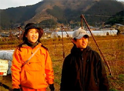 Yohaei and Akiko grow blueberries and 40 other crops on their small farm outside of Kobe.