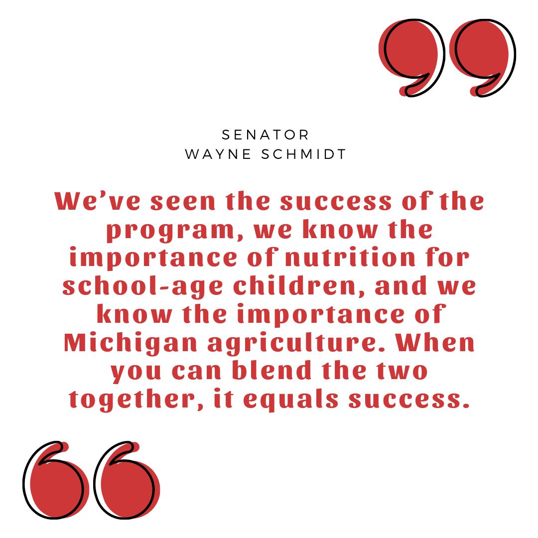 Quote by Senator Wayne Schmidt