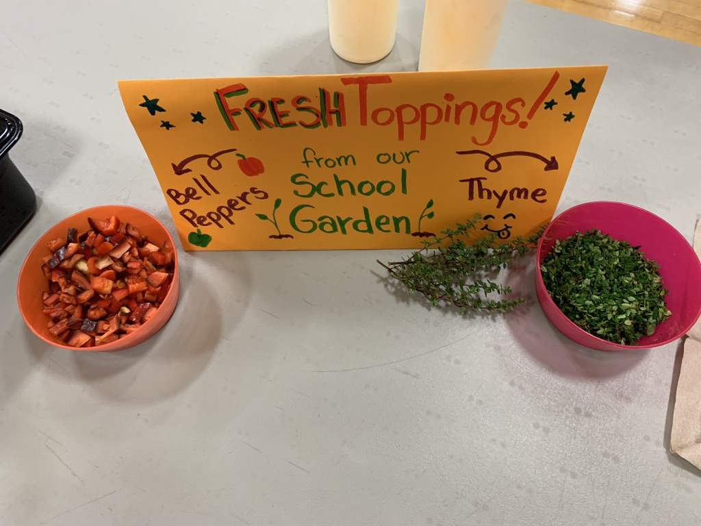Pellston school garden toppings