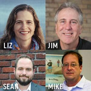 Liz Kirkwood, Jim Lively, Sean McBrearty, Mike Ripley