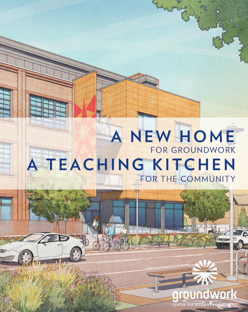 Teaching Kitchen fundraising brochure cover
