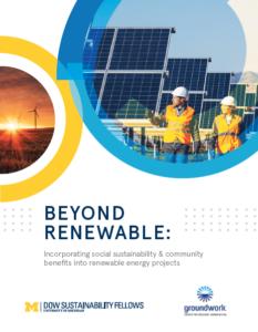 Beyond Renewable University of MIchigan study cover