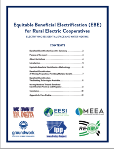 Equitable Beneficial Electrification Rural Co-ops cover