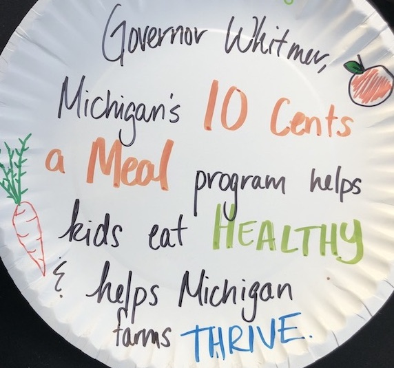 Ten Cents a Meal paper plate