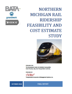 Northern Michigan Rail Ridership Feasibility cover