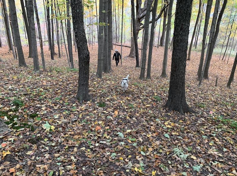 Nathan Medina in woods