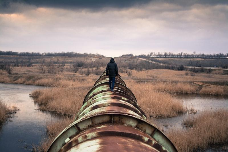 oil pipeline. conceptual, not Line 5